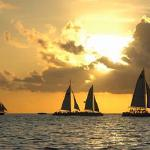 Another beautiful sunset at Mallory Square in Key West Florida (boats are available for charter)